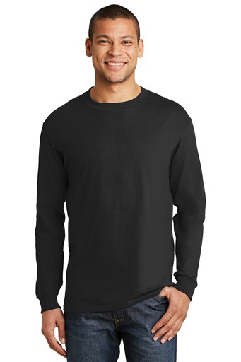 Hanes® Beefy-T® - 100% Cotton Long Sleeve T-Shirt