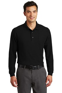 Port Authority® Long Sleeve Silk Touch™ Polo with Pocket